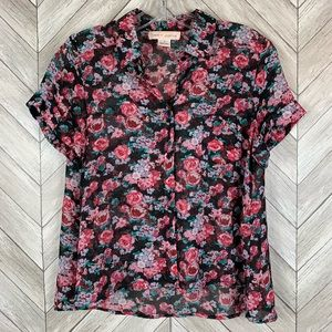 Band of Gypsies floral button blouse